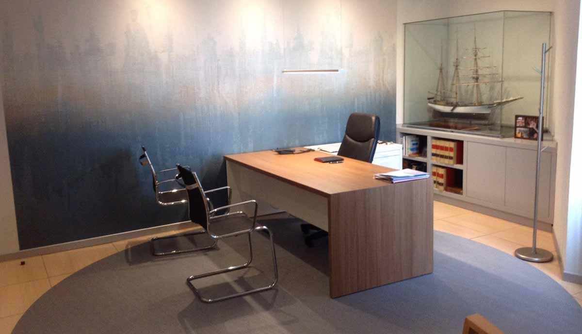 Interiorismo del bufete de abogados villalobos interley for Mobiliario despacho abogados
