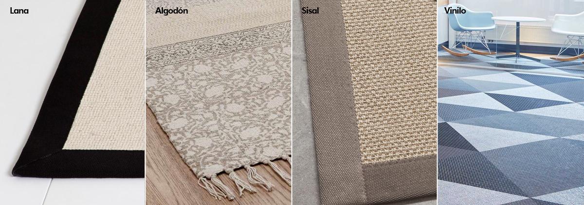 alfombras interiorismo materiales