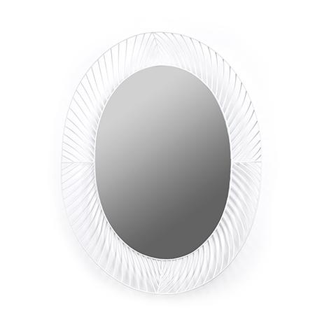 Espejo ovalado acabado marco blanco interley interiores for Espejo ovalado blanco