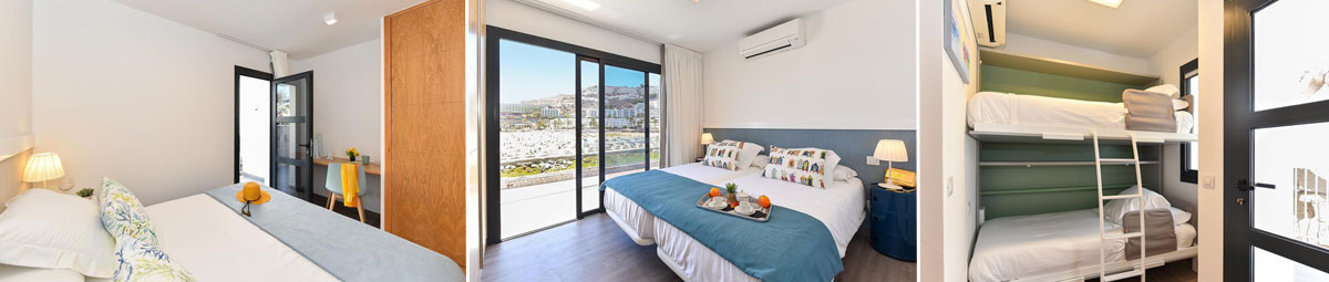 Interiorismo BeachFront Suites Morea habitaciones